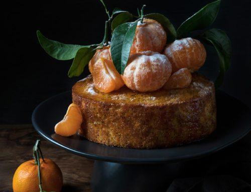 Prăjitură cu mălai și sirop de mandarine cu cardamom